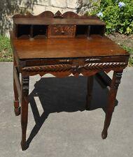 Astounding Late 1800's / Early 1900's Texas Folk Art Desk Furniture Tramp Art