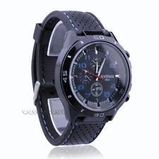 Silicone Band Quartz Wrist Watch Analog for Men Sports Casual Black New