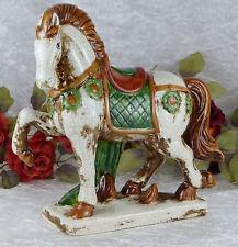 Keramik Figur Pferd Pferdeskulptur Skulptur Statue Hengst Pferdefigur Antik Deko