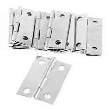 """10pcs Cabinet Drawer Window Door Stainless Steel Butt Flat Hinges 1.5"""" Length"""
