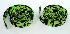 ROAD BIKE CORK HANDLEBAR TAPE PADDED BICYCLE BAR WRAP GREEN/BLACK MARBLE/CAMO