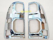CHROME TAILLIGHT COVER LAMPS FOR TOYOTA HILUX VIGO CHAMP MK7 2012 2013 2014 PAIR