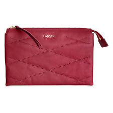 Lanvin Sugar Small Cosmetic Lambskin Leather Pouch - Red