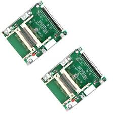 "2X Dual CF 2.5""Compact Flash to 44 pin IDE Male Adapter Converter"