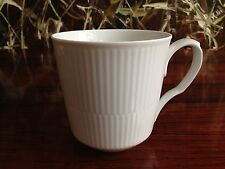 ROYAL COPENHAGEN weiß gerippt / white fluted - Cafe Latte Becher 0,46 Ltr.  NEU!