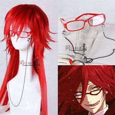 Black Butler kuroshitsuji Grell Sutcliff Cosplay Glass Without Wig
