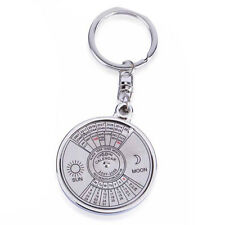 Cool 50 Year Calendar Key Chain Keyring Keyfob Metal Alloy Ring Compass