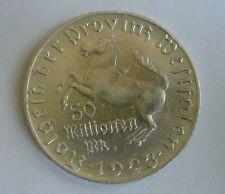 Germany,Westfalen 50 Millions Mark 1923, Emergency coin,War money