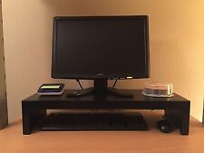 "26"" Wide TV/Computer Monitor Riser Stand in Birch Wood with Black Finish"
