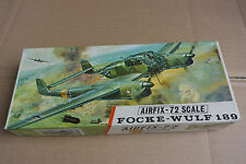 AIRFIX 1/72 RED STRIPE BOX FOCKE WULF 189A-2 COMPLETE FROM A COLLECTION
