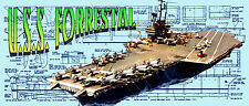 "Build model Aircraft Carrier 52"" 4 Radio Control Full Size Printed PLAN &Article"