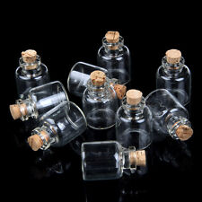 DIY Charm Glass Clear Empty Wishing Bottles Sold by 10 pieces