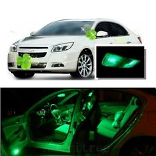 For Chevy Malibu 2005-2012 Green LED Interior Kit + Green License Light LED