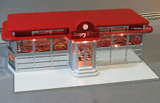 LIONEL LIGHTED LUXURY DINER home scenery train yard building o gauge 6-82036