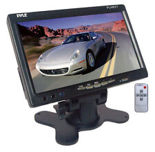 "NEW Pyle PLHR77 7"" Wide Screen LCD Video Monitor w/Headrest Shroud and Stand"