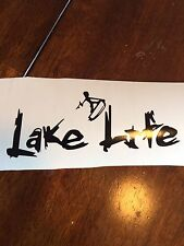 Lake Life Surfing Vinyl Decal Party Boat Sticker Fishing Summer Fish Car Auto