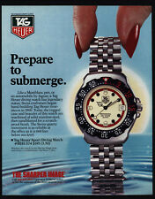 1988 TAG HEUER Sport Diving Watch - Prepare To Submerge - VINTAGE ADVERTISEMENT