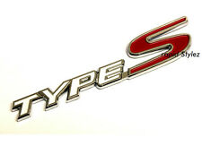 Type S Badge Emblem White Red Honda Civic Integra FN2 EP3 EK Rear Boot Trunk42wr