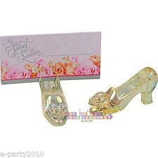 (12) Cinderella SLIPPER PLACECARD HOLDERS ~ Bridal Shower Wedding Party Supplies