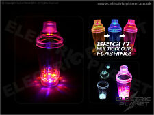 Light-Up Strobing LED Cocktail Shaker with replaceable batteries