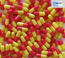 DR T&T 100 enteric effect  acid-resistant  capsules size 0 size0  red/yellow