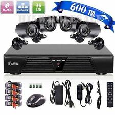 CCTV 4CH Channel DVR Day Night Vision 800TVL Outdoor Home Security Camera System