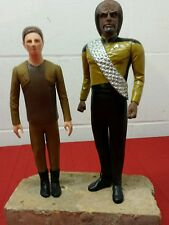 2 VINTAGE STAR TREK CLASSIC FIGURES 1994  Worf and Odo 1994 Philippines