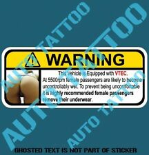 VTEC FUNNY WARNING DECAL STICKER HUMOUR FUNNY NOVELTY VEHICLE DECALS STICKERS