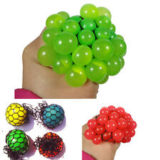 Creative 1Pcs Squishy Mesh Ball Squeeze Anti Stress Reliever Kids Child Toy Gift