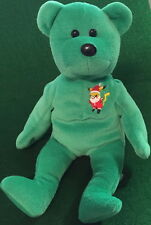 "POKEMON Santa Claus ""PIKACHU"" 2000 Green TEDDY BEAR Bean Bag Plush Toy 8"" GO!"