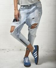 $148 NEW ONE by One Teaspoon Wilde Kingpins Drop Rise Destroyed Slouchy Jeans 24