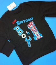 NEW** 1st Birthday 1 Year Baby Boys Graphic Shirt 12-18 Months Robot Gift! LS