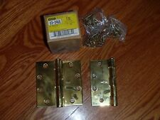 "3 F191 Full Mortise HINGES 4.5"" x 4.5"" ~ #03-3966 Solid Brass Hinge NEW"