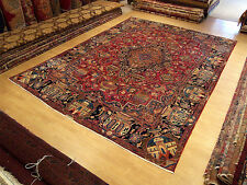 10 x 13 Handmade Hand Knotted Antique Persian (Archaeological) Kashmar Wool Rug