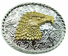 Solid Brass Eagle Head Belt Buckle Branded Baron Buckles Product * UK Seller *