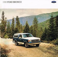 1989 FORD Big BRONCO Truck Brochure w/Color Chart: XLT,EDDIE BAUER,