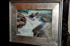 Fine Art Of Spectacular  Kayak Boater   by Well listed Artist Roni Marsh