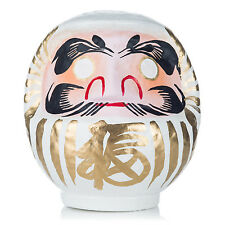 White Japanese Daruma Doll Lucky God