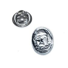 Theatre Shakespeare Bust, Stratford Poet Pewter Pin/Tie/Lapel Badge (XDHLP617)