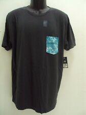 NEW RIP CURL SURF MEN PALMTATION HERITAGE WASH CHARCOAL TEE T SHIRT LARGE LL86