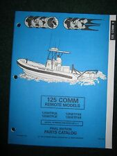 1994 Johnson Evinrude Outboard Parts Catalog Manual 125 HP Commercial Remote
