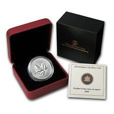2010 1 oz Piedfort $5 Silver Canadian Maple Leaf Coin - Box and Certificate