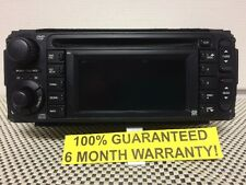 WARRANTY! 02-07 Chrysler Jeep Dodge GPS Navigation Radio CD Player