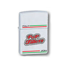 ★ACCENDINO ZIPPO ANTIVENTO A BENZINA LIGHTER POP FILTERS ITALY WHITE 14C003★