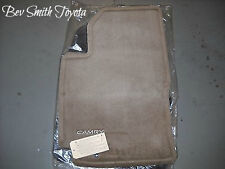 NEW OEM 1997-2001 TOYOTA CAMRY TAN (OAK) FLOOR MATS 4-PEICE SET & CLIPS