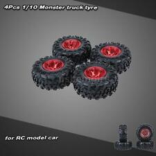 4Pcs/Set 1/10 Monster Truck Tire Tyres for Traxxas HSP HPI Kyosho RC Car 3J69