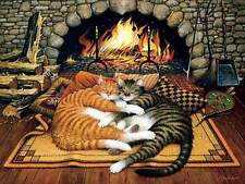 All Burned Out (Cats of Charles Wysocki) a 750-Piece Jigsaw Puzzle