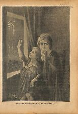 Portrait Veuve de Polus & Orpheline Feux d'Artifice Etoile 1919 ILLUSTRATION