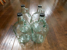 Lots of 4 GLASS 1 GALLON JUGS Bottles Caps For Beer Wine Water Crafts Decoration