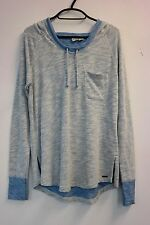Roxy Hoodie In Blue Heather Marl, cotton, Size UK S / 10, Quicksilver